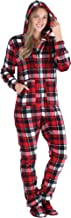 SleepytimePJs Women's Fleece Hooded Footed Onesie Pajama