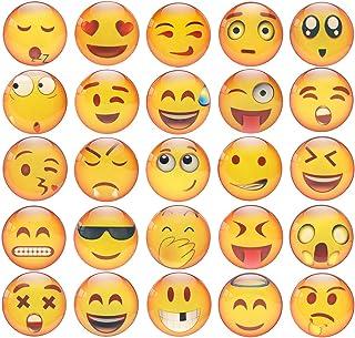 M MORCART Aimant frigo, Smilely Magnet Frigo,3D Magnet Emoji 25 Pièce Smileys Réfrigérateur Tableau Blanc Aimant Décoratio...
