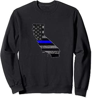 California Police Officer Thin Blue Line Policemen Uniform Sweatshirt