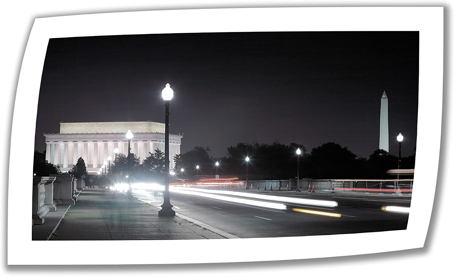 Art Wall 'Memorial Bridge at Night' Unwrapped Canvas Artwork by Steve Ainsworth, 22 by 36-Inch