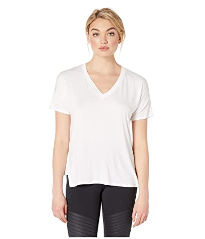 Beyond Yoga Side Splits V-Neck Tee (White) Women