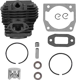 AUNMAS Kit de Cylindre en Alliage d'aluminium de 45mm de diamètre, Cylindre de tronçonneuse et Jeu de Pistons adaptés aux ...