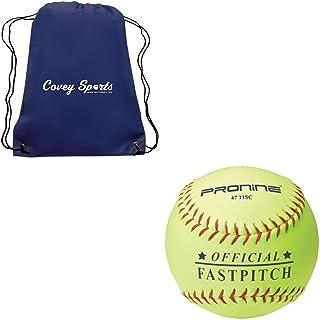 ProNine 11 英寸 Fastpitch 垒球 10U 岁 官方联盟球(多件装) Covey 运动包