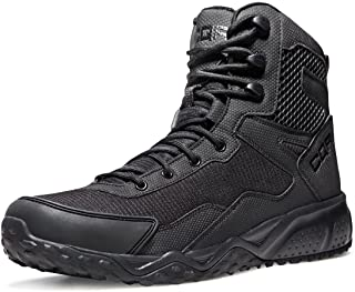 CQR Men's Combat Boots Military Tactical Mid-Ankle/Low-Cut Boots EDC Outdoor Hiking Assault