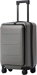 Luggage Suitcase Piece Set Carry On ABS+PC Spinner Trolley with Laptop pocket (Titanium gray, 20in(carry on))