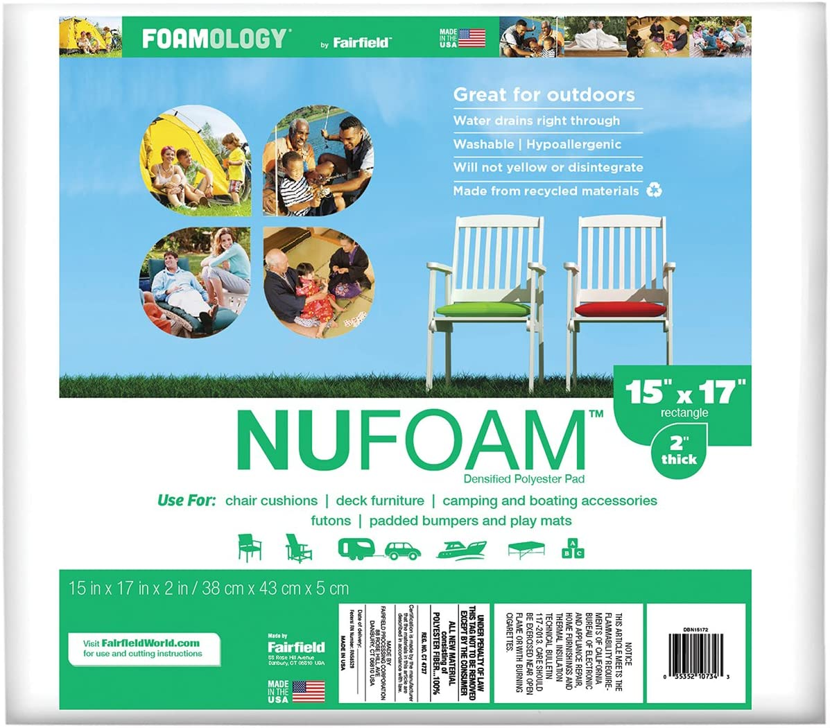 Fairfield NuFoam Ranking TOP3 15-Inch It is very popular by White 17-Inch 2-Inch