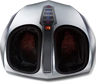Shiatsu Foot Massager Machine with Heat - Belmint Multi Settings Electric Feet Massager with Deep Kneading Massage therapy and Air Compression - Delivers Relief for Tired Muscles and Plantar Fasciitis