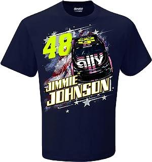 3e8556543ac Checkered Flag 2019 NASCAR Men s Patriotic USA 2-Spot Driver Sponsor T-Shirt