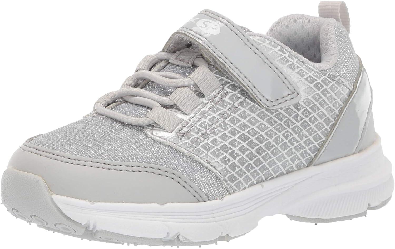 Geox Girl's Hoshiko 5 SP Sneaker, Light Grey, 29 Medium US Little Kid
