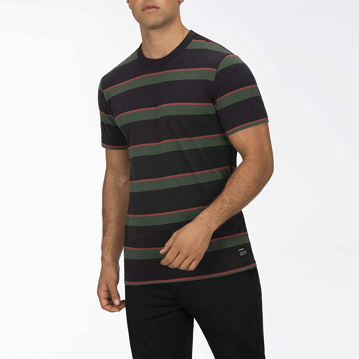 Hurley Men's Dri-Fit Harvey Stripe Sleeve Patch Today's only Short Factory outlet