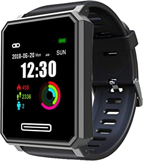 H8 Activity Tracker,Running Watch,Pedometer Tracker,Waterproof with Heart Rate Monitor,Pedometer, Sleep Monitor, Calories,Stop Watch and Notification for Android&iPhone Smartphone (Square)