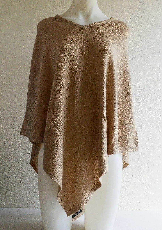 100% Cashmere Pashmina Poncho Wool Cape Wrap Soft Warm Women Long Sleeve Winter