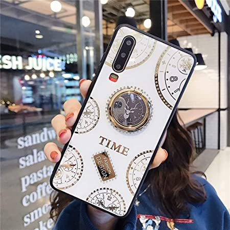 NiaCoCo Compatible with iPhone 11 Pro Case 1*Screen Protector,Set with diamonds360 Degree Rotation Ring Holder Anti-Scratch Anti-Fingerprint Slim Shockproof Protective Cover- White