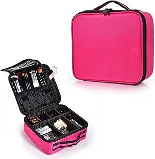 Hapilife メイクボックス 化粧バッグ軽量で持ち運び可能 スーツケース トラベルバッグ 化粧 バッグ 調整可能なインサート収納袋