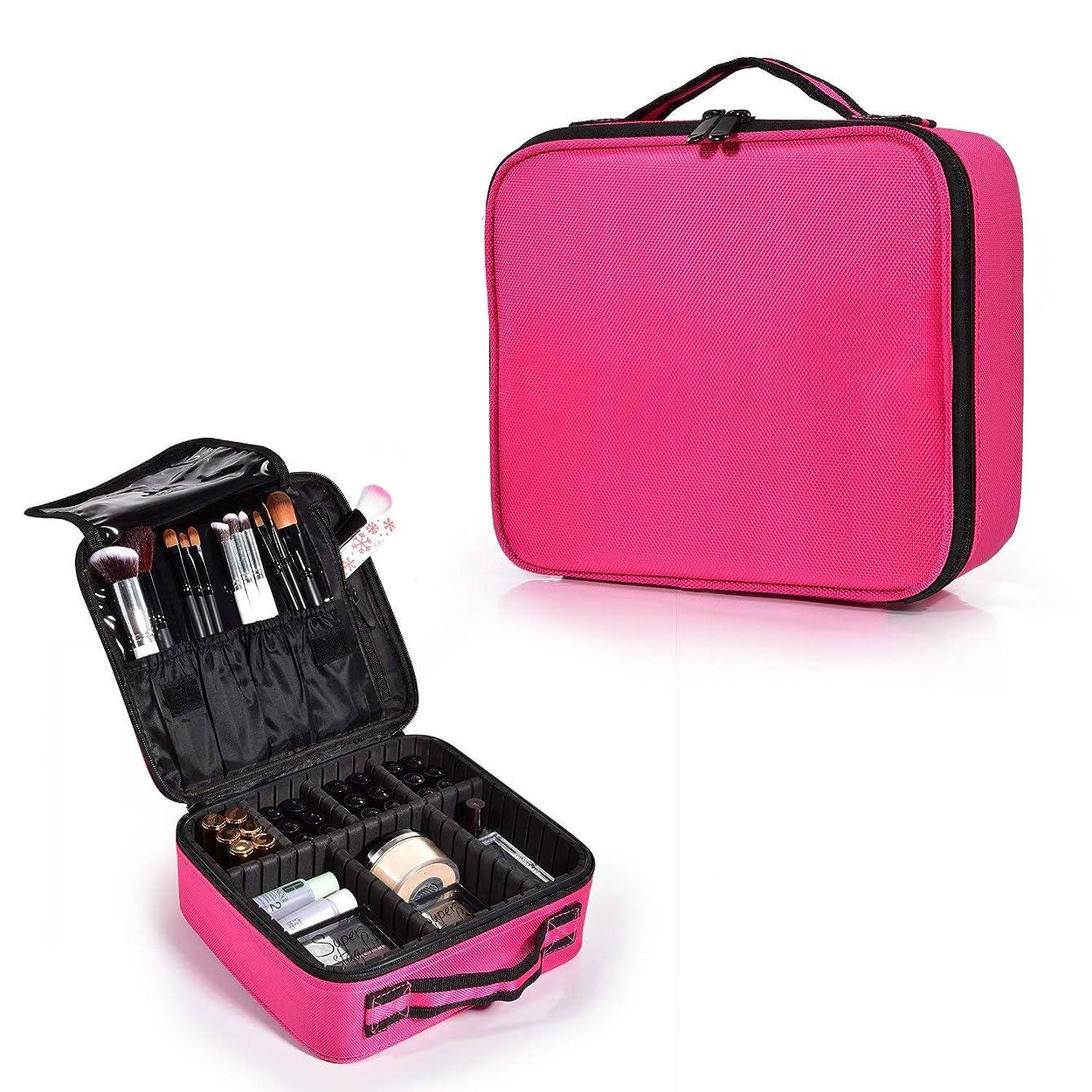 照らす馬力前文Hapilife メイクボックス 化粧バッグ軽量で持ち運び可能 スーツケース トラベルバッグ 化粧 バッグ 調整可能なインサート収納袋