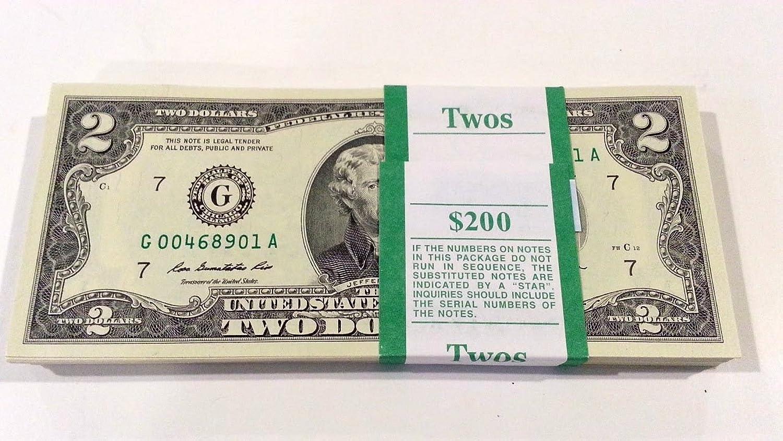 Two Dollar Bill - Pack of 10 Bills
