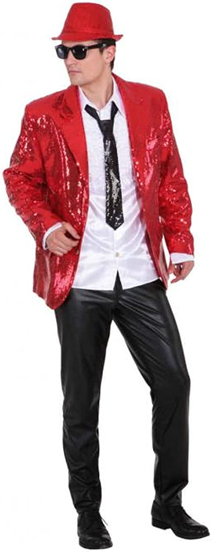 Pailletten Show Jacket rot, Erwachsenen-Größe 56 58 B003VYCKNC Zuverlässige Qualität     | Zürich Online Shop
