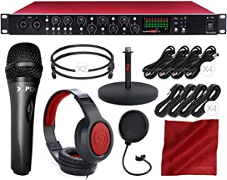 Focusrite Scarlett OctoPre 8-Channel Mic Pre Expansion with 8 ADAT Inputs/8 Analog Outputs and Microphone + Headphones + Cables Deluxe Bundle