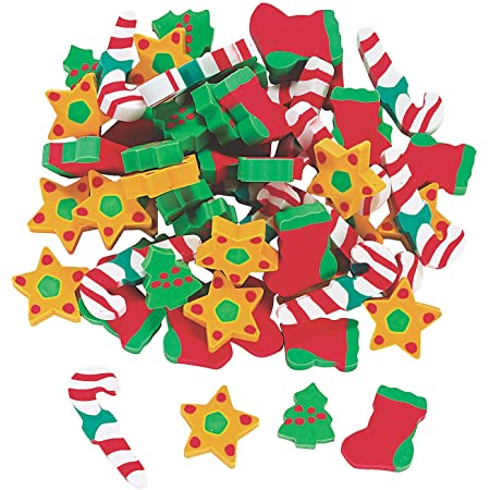 Party Favor 12 Ct amscan Christmas-Themed Winter Fun Erasers