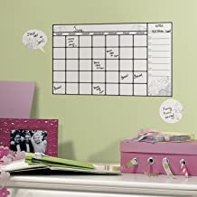 RoomMates Dry Erase Calendar Peel and Stick Wall Decal , 17.325 inch x 9 inch - RMK1556SCS