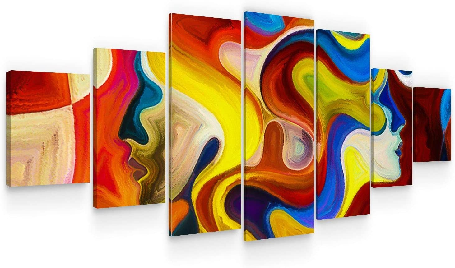 Startonight excellence Large Canvas Wall Quantity limited Art Abstract with Curly Nymphs - H