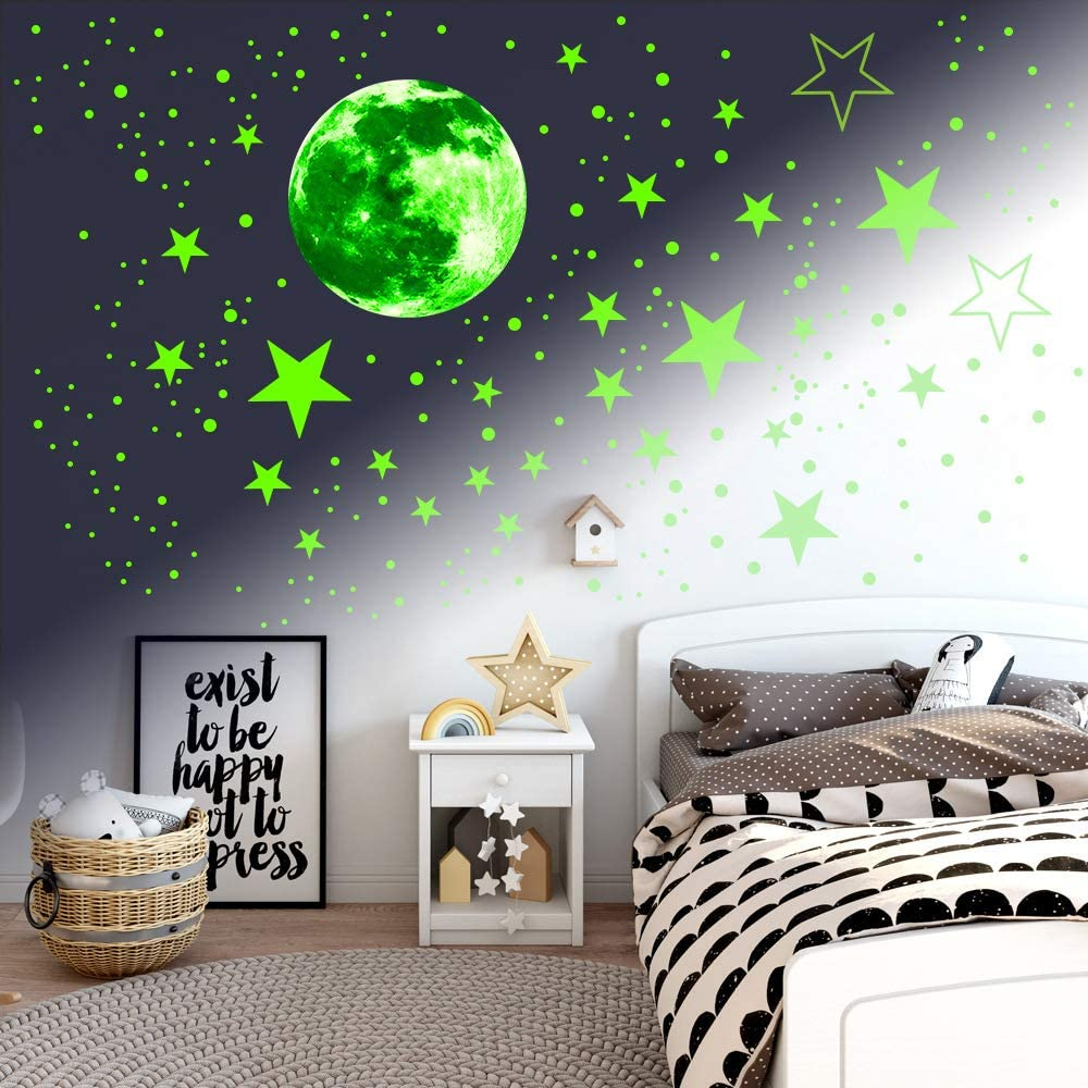 Astronaut Stickers Set Glow in The Dark Wall Ceiling Decals 3D Visualization Luminous Stickers for Kids Bedroom Decoration