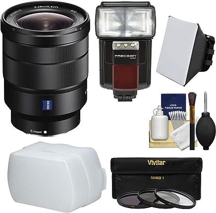Sony SEL1635Z 16-35mm Vario-Tessar T FE F4 ZA OSS Full-Frame E-Mount Lens + 64GB Ultimate Filter /& Flash Photography Bundle