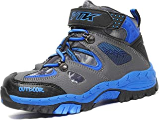 Littleplum Kid Snow Boots Boys Snow Shoes Winter Boots for Girl Sneaker Hiking Boots Outdoor Anti-Slip Boots(Toddler/Little Kid/Big Kid)