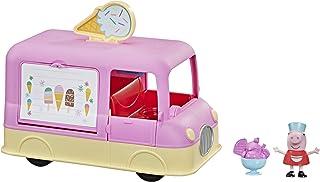 Peppa Pig Peppa's Adventures Peppa's Ice Cream Truck Vehicle Preschool Toy, Speech and Sounds, Peppa Figure and Accessory,...
