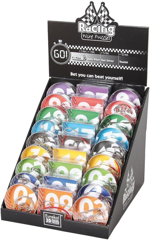 Eureka Racing Wire Puzzle Set mit 27 Metallpuzzle B01EE8XT9C Lebhaft und liebenswert      