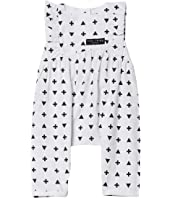 Graphic Frill Balloon Romper (Infant)