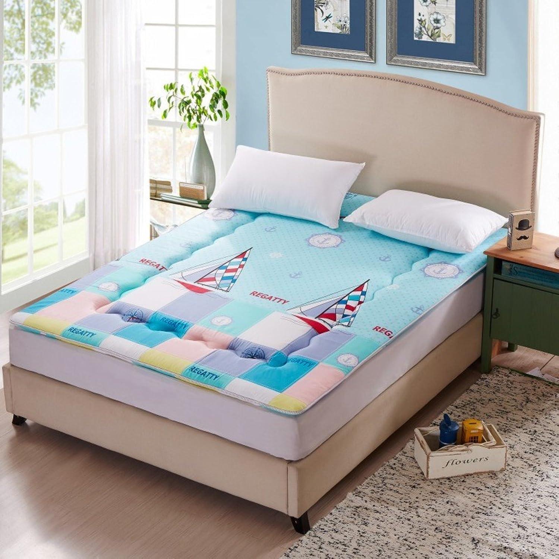 Sleep Mattress Topper,Foldable Tatami Floor mat Traditional Sponge mat,Japanese Bed roll,Student Dormitory Mattress-bluee 90x190cm(35x75inch)