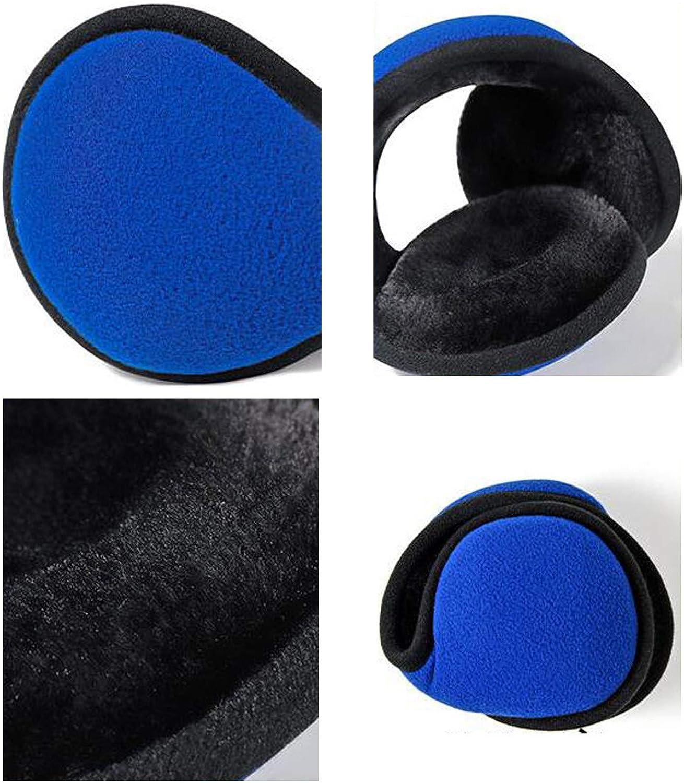 Bolayu Unisex Foldable Ear Warmers Polar Fleece Winter Earmuffs Men Women Classic Warm Outdoor Earmuffs Accessory
