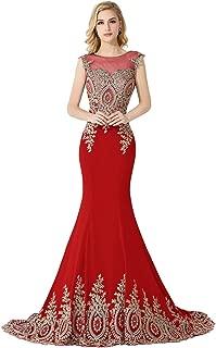 long red mermaid dress