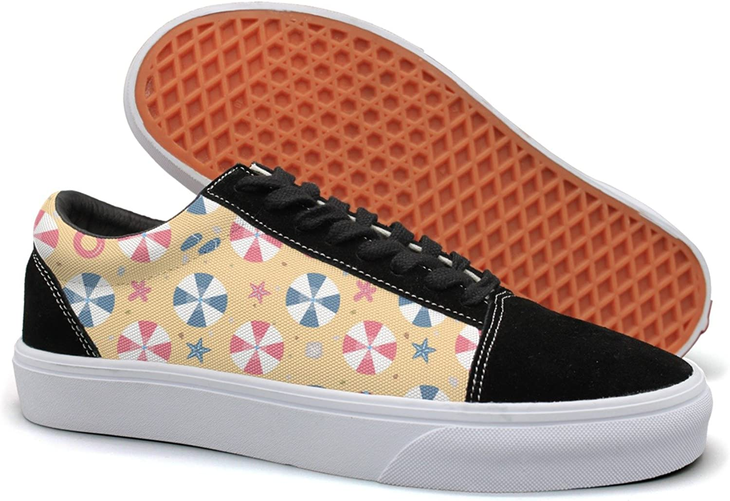 Feenfling Summer Miami Beach colorful Design Womens Fashion Suede Canvas Low Top Running shoes