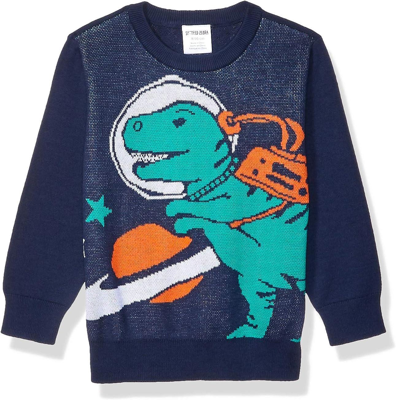 Amazon Brand - Spotted Zebra Boys' Pullover Crew Sweaters