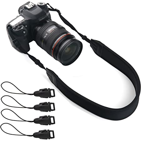 Wide fitting for DSLRs and mirrorless cameras Pro Neoprene Comfort Neck Strap Black
