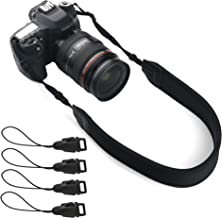 تسمه گردن دوربین ، Ruittos DSLR کمربند آستین تسمه تسمه ای Lanyard Neoprene بسته بندی شده با قطع سریع برای دوربین بدون آینه سبک وزن Sony A6000 A6300 A7 III A7 ، Fuji Fujifilm X-T20 (سیاه)