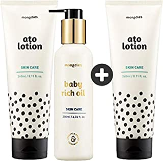 Mongdies Ato Lotion & Baby Rich Oil - Maximized Moisturizing Set (2+1) 31% OFF