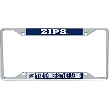 Mascot Desert Cactus University of Akron Zips NCAA Metal License Plate Frame for Front Back of Car Officially Licensed