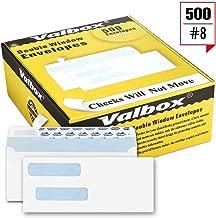 ValBox 500 Count #8 Double Window Envelopes 3 5/8