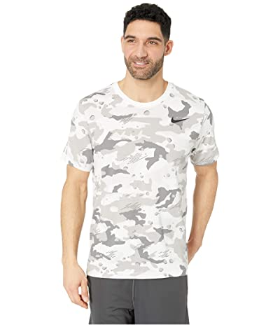 Nike Dry Tee Dri-FITtm Cotton Camo All Over Print (White/Black) Men