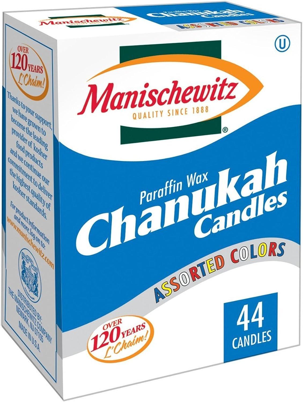 comprar mejor Manischewitz Manischewitz Manischewitz Chanukah velas Colors 44Ct  en stock