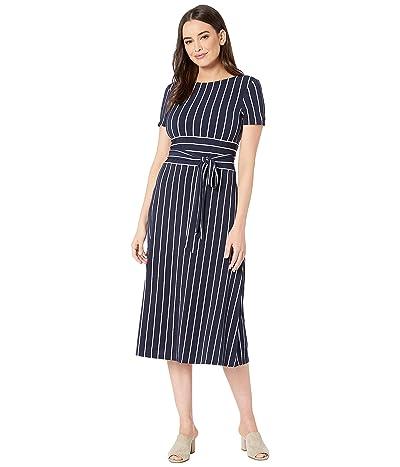LAUREN Ralph Lauren C3 Driver Stripe Kristie Dress (Lighthouse Navy/Colonial Cream) Women