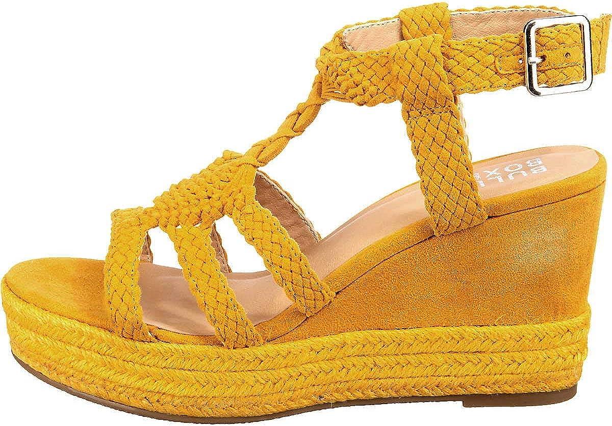 BULLBOXER Damen Sandalen 175018F2T Frauen Keilsandalen