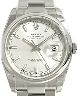 Rolex Datejust Mechanical (Automatic) Black Dial Mens Watch 116200 (Certified Pre-Owned)