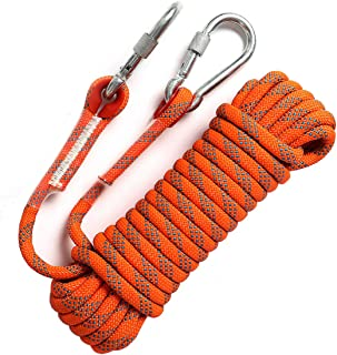 Sponsored Ad - GINEE Static Climbing Rope 35FT,50FT,100FT,150FT,200FT,250FT(Diam 10mm,16mm)