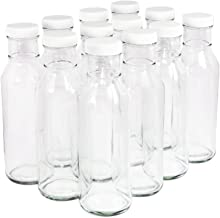 Clear Glass Beverage/Sauce Bottles, 12 Oz - Case of 12