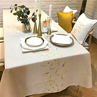 Goldstickerei-Tischdecke - Kaffeetischtischdecken, gelbe Rechteckreihe der Tischdecken größe : 140  230cm