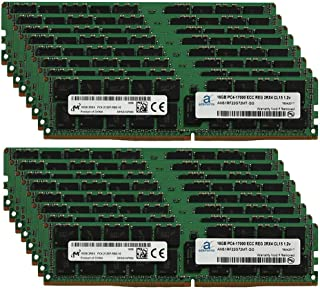 Adamanta 256GB (16x16GB) Server Memory Upgrade Compatible for SuperMicro Storage Blade SBI-7128R-C6 DDR4 2133MHz PC4-17000 ECC Registered Chip 2Rx4 CL15 1.2v DRAM RAM